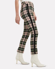 Gemini Checked Straight Ankle Pants, PINK CHECK, hi-res