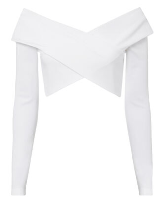 Issa Crop Top, WHITE, hi-res