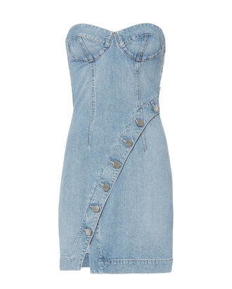 Claudia Mini Dress, DENIM, hi-res
