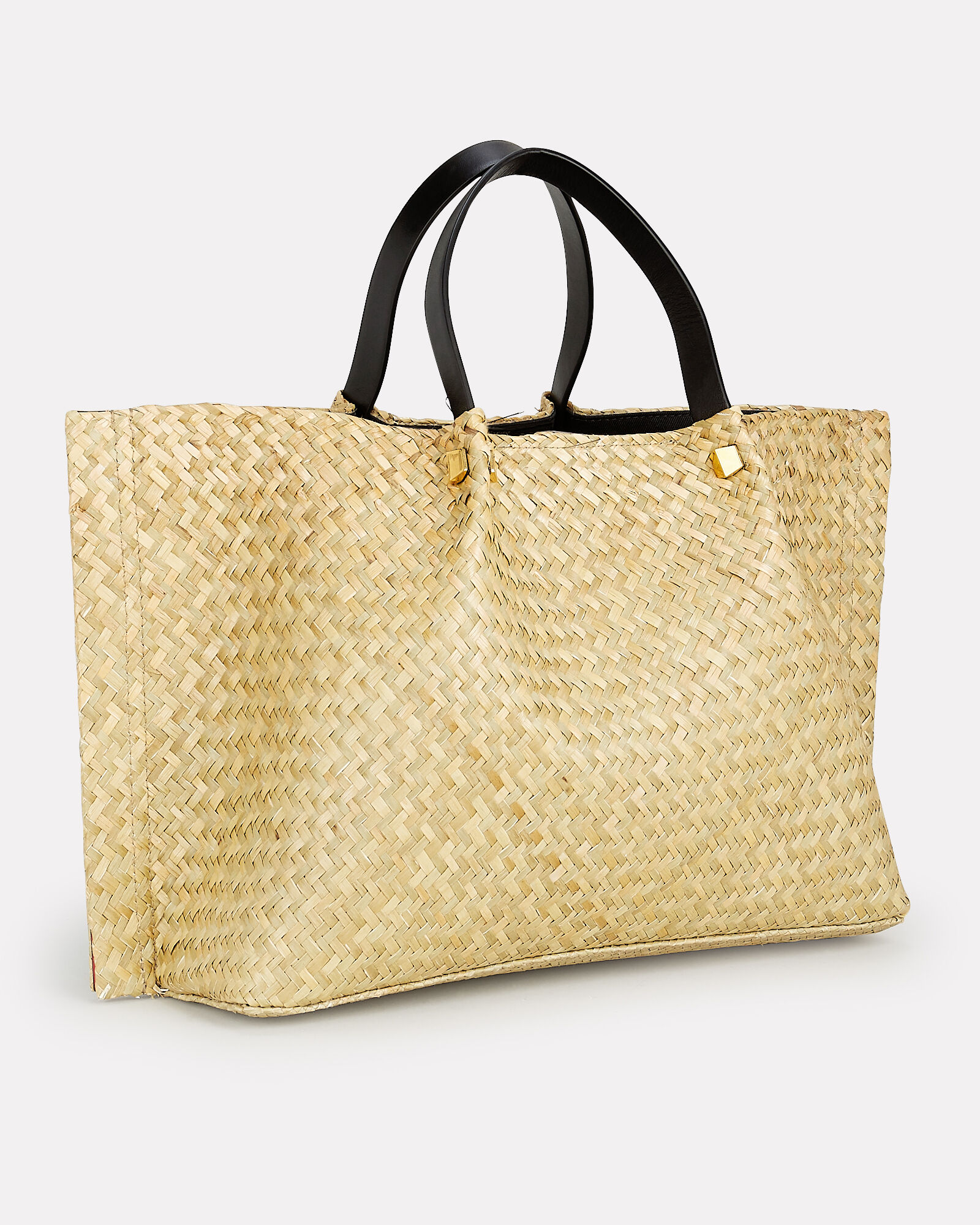 Medium Straw Tote, BEIGE, hi-res