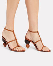 Eden Stacked Sandals, BROWN, hi-res
