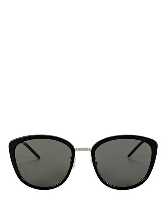 Soft Cat Eye Sunglasses, BLACK, hi-res