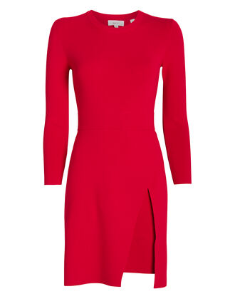 Hadley Knit Dress, RED, hi-res