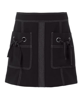 Rinko Mini Skirt, NAVY, hi-res