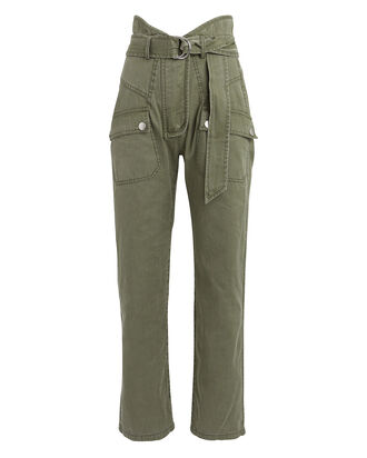 Thomas Canvas Cargo Pants, OLIVE, hi-res