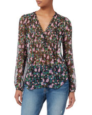 Lowell Blouse, GREEN, hi-res