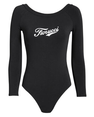 Soda Logo Bodysuit, BLACK/WHITE, hi-res