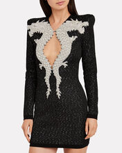 Dragon Embellished Knit Dress, BLACK, hi-res