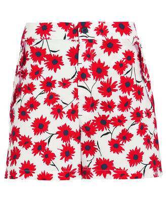 Naomi Flower Shorts, RED/WHITE, hi-res