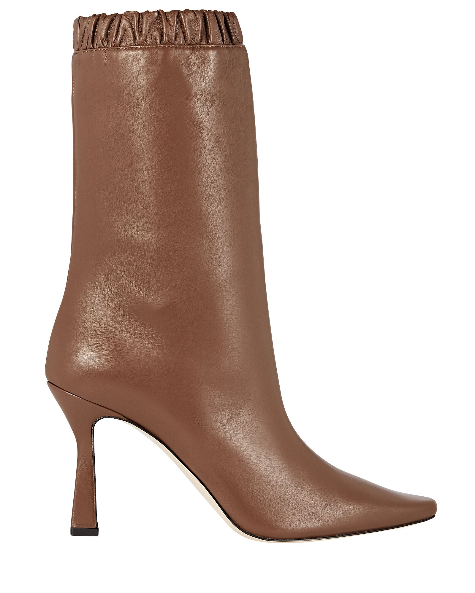 Lina Slouch Leather Ankle Boots, BROWN, hi-res