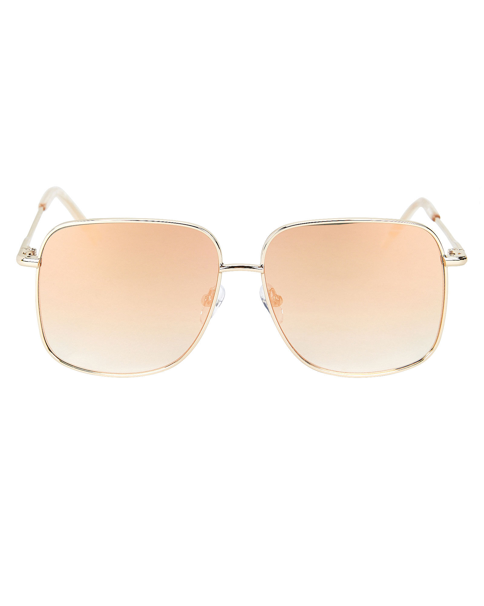 Equilibrium Oversized Square Sunglasses, GOLD, hi-res