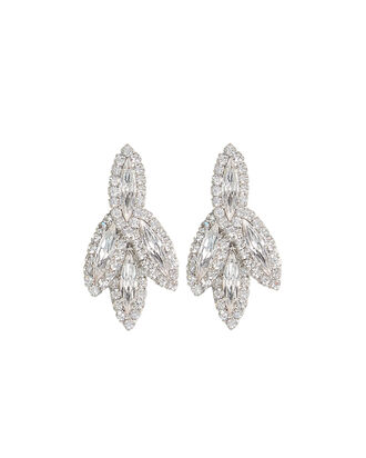 Petite Bacall Crystal Earrings, CLEAR, hi-res