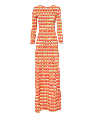 Evissa Chevron Maxi Dress, MULTI, hi-res