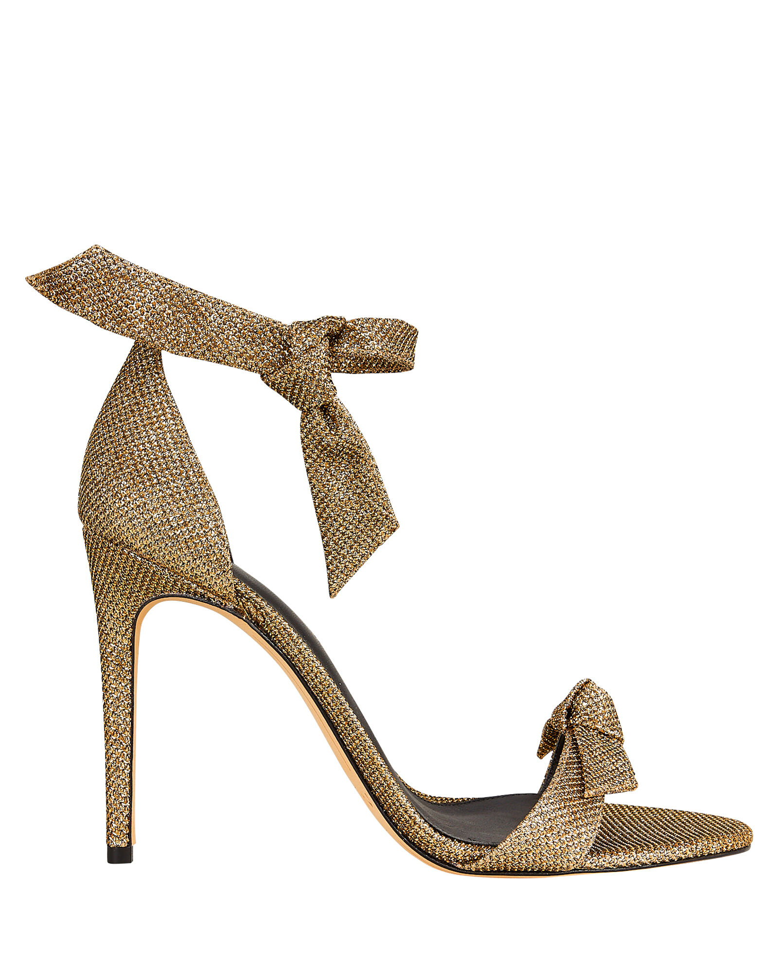 Clarita 100 Lamé Sandals, GOLD, hi-res