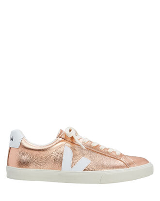 Esplar Rose Gold Low-Top Sneakers, GOLD, hi-res