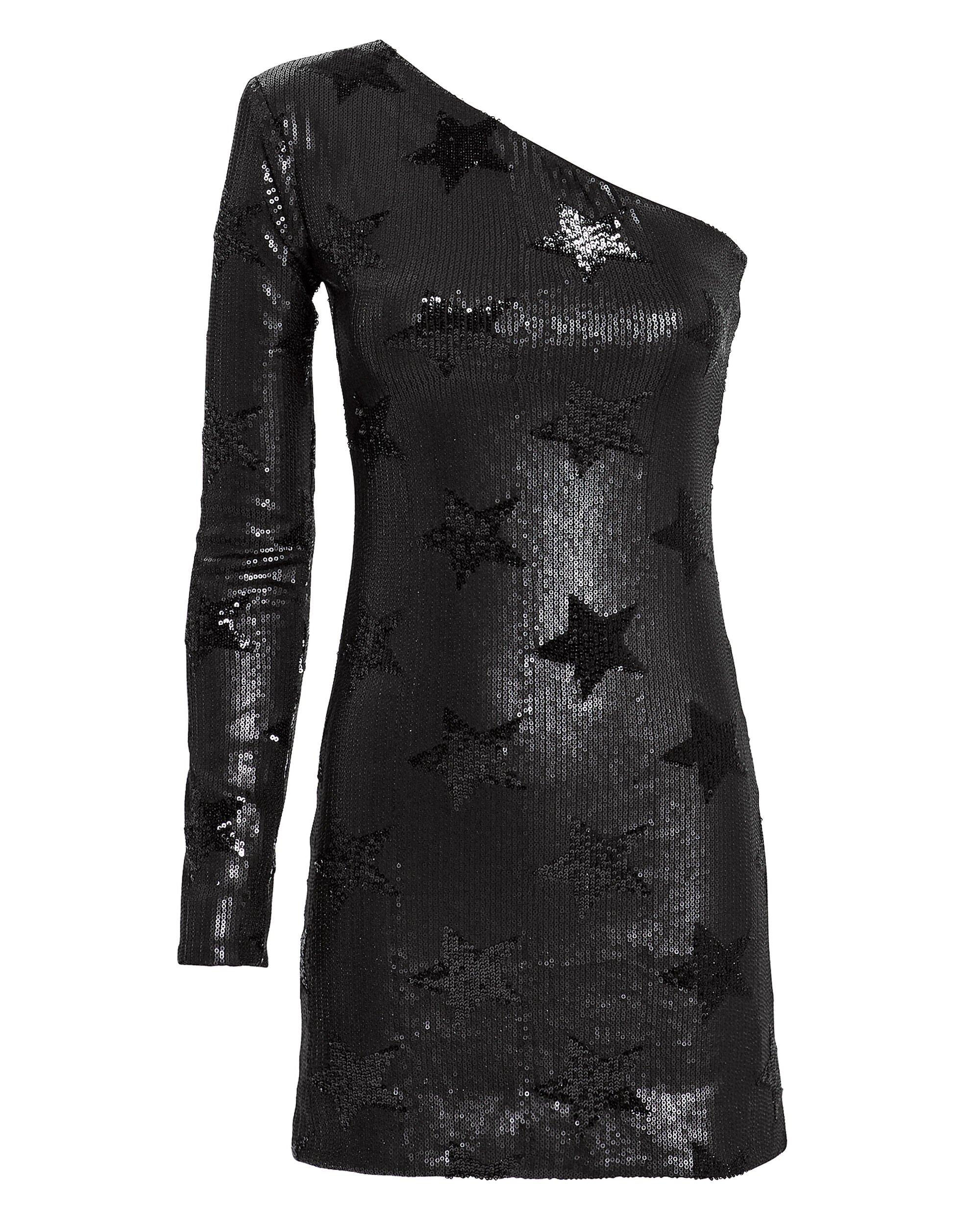 Edie Sequin Star Dress, BLACK, hi-res