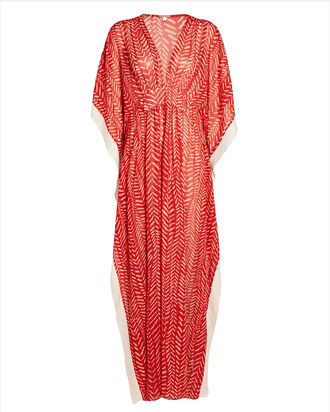 Seychelles Printed Georgette Maxi Dress, RED/IVORY, hi-res