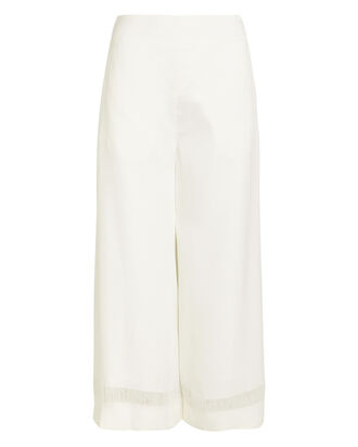 Float Hem Wide-Leg Pants, IVORY, hi-res