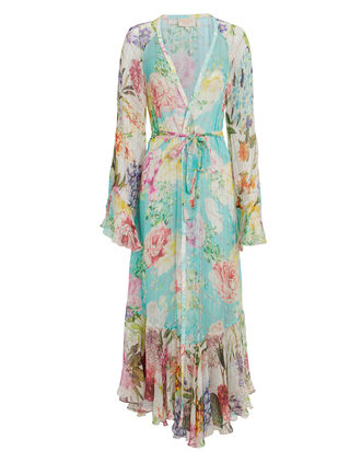 Trinity Floral Crepe Robe, BLUE/FLORAL, hi-res