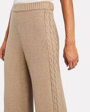 Mitchell Cable Knit Wide-Leg Pants, BEIGE, hi-res
