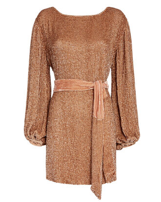 Grace Sequin Mini Dress, GOLD, hi-res