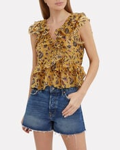 Dumi Floral Top, MULTI, hi-res