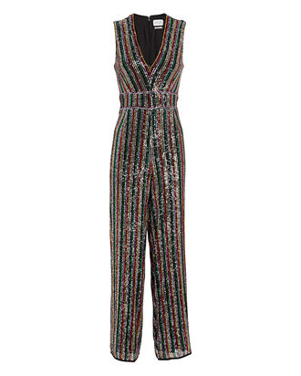 Winnipeg Sequin Striped Jumpsuit, MULTI, hi-res