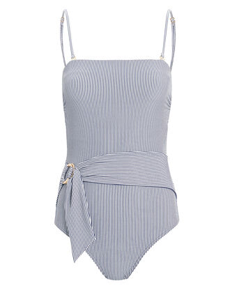 Shoreline One Piece Swimsuit, BLUE/STRIPES, hi-res