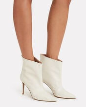 Alex Leather Ankle Boots, WHITE, hi-res