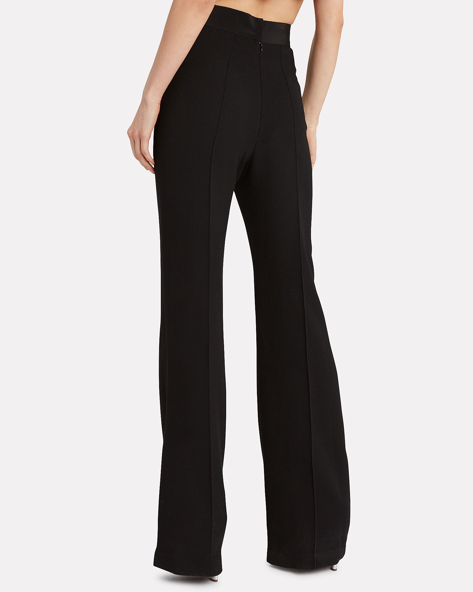 Felipa Flared Wool Trousers, BLACK, hi-res