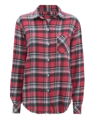 Milo Plaid Shirt, RED PLAID, hi-res