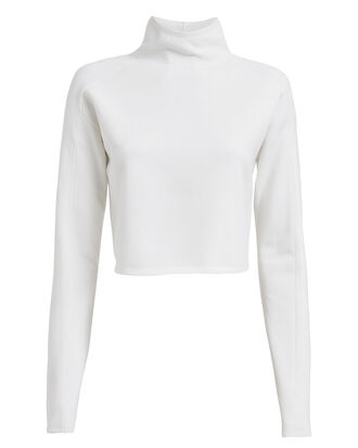 Compact Wool Turtleneck Sweater, IVORY, hi-res
