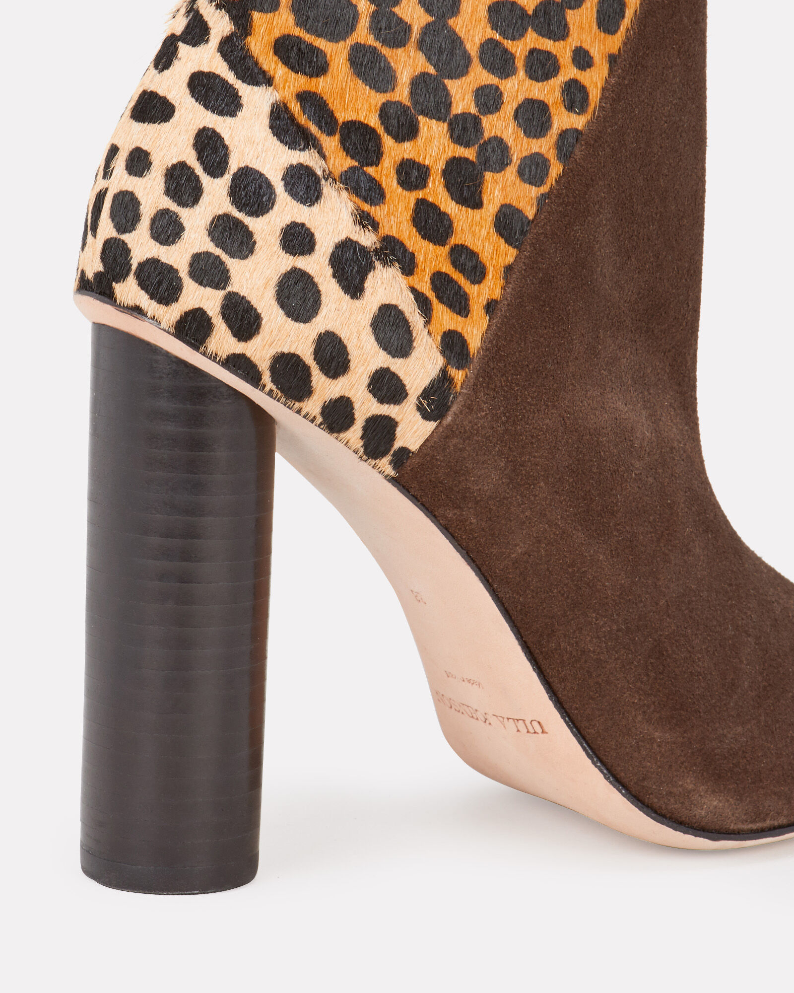 Carin Leopard Patchwork Ankle Boots, BROWN, hi-res