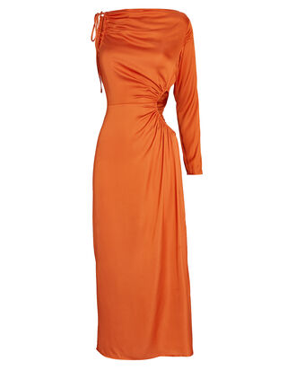 Cyn One-Shoulder Jersey Dress, ORANGE, hi-res