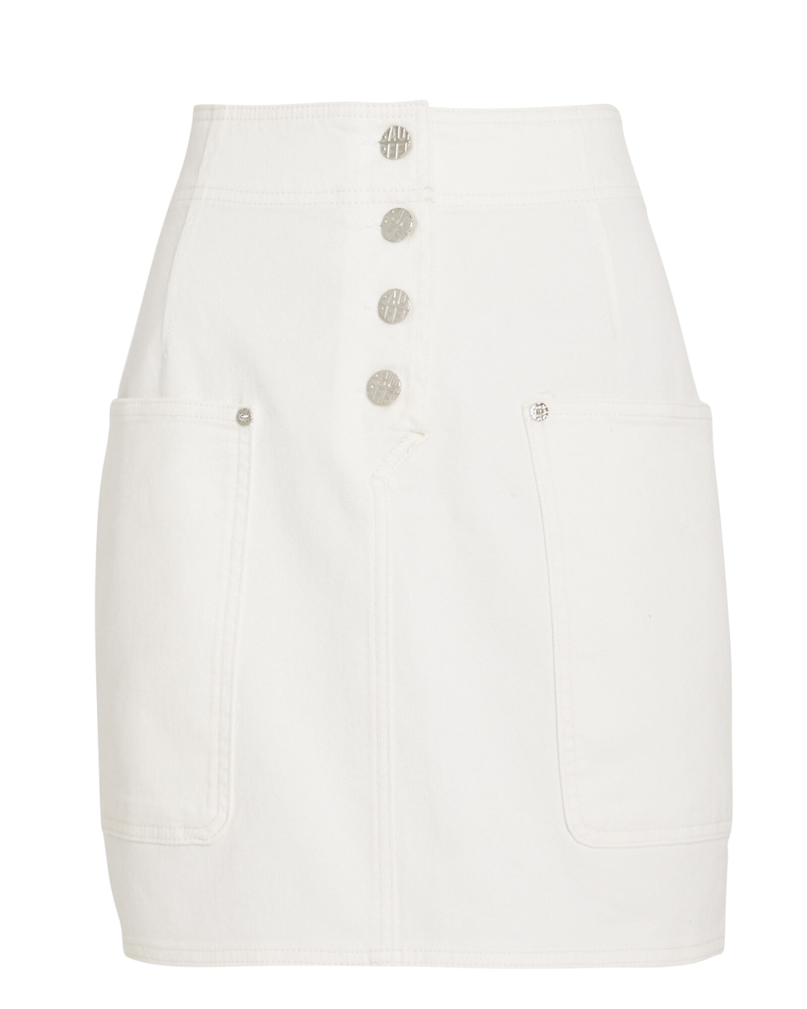 Shannon Denim Skirt, WHITE, hi-res