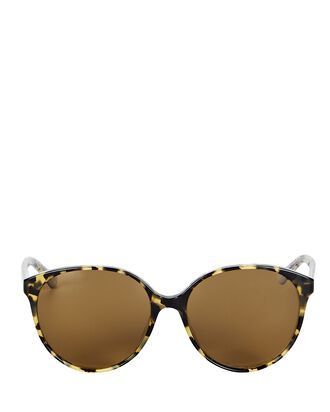 Brooktree Oversized Round Sunglasses, BROWN, hi-res