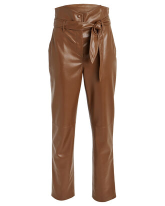 Ethan Tailored Vegan Leather Pants, CAMEL, hi-res