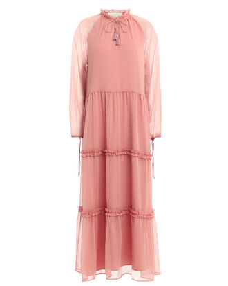 Klaire Vintage-Style Maxi Dress, POWDER PINK, hi-res