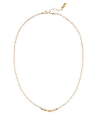 Pearl Collar Necklace, WHITE, hi-res