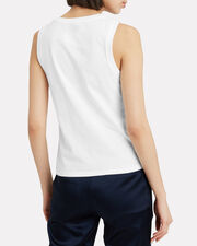 Alicia Knot Front Tank Top, WHITE, hi-res