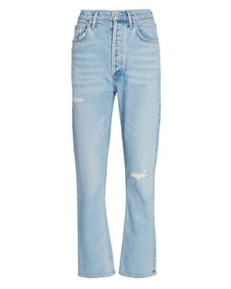 Jolene High-Rise Straight Cropped Jeans, BLUE JAY, hi-res