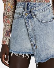 Rap Clas Sick Denim Mini Skirt, DENIM, hi-res