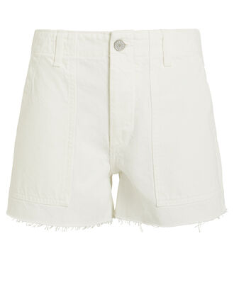 Lara Denim Shorts, WHITE, hi-res