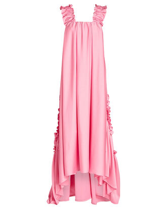Evie Ruffled Georgette Gown, PINK, hi-res
