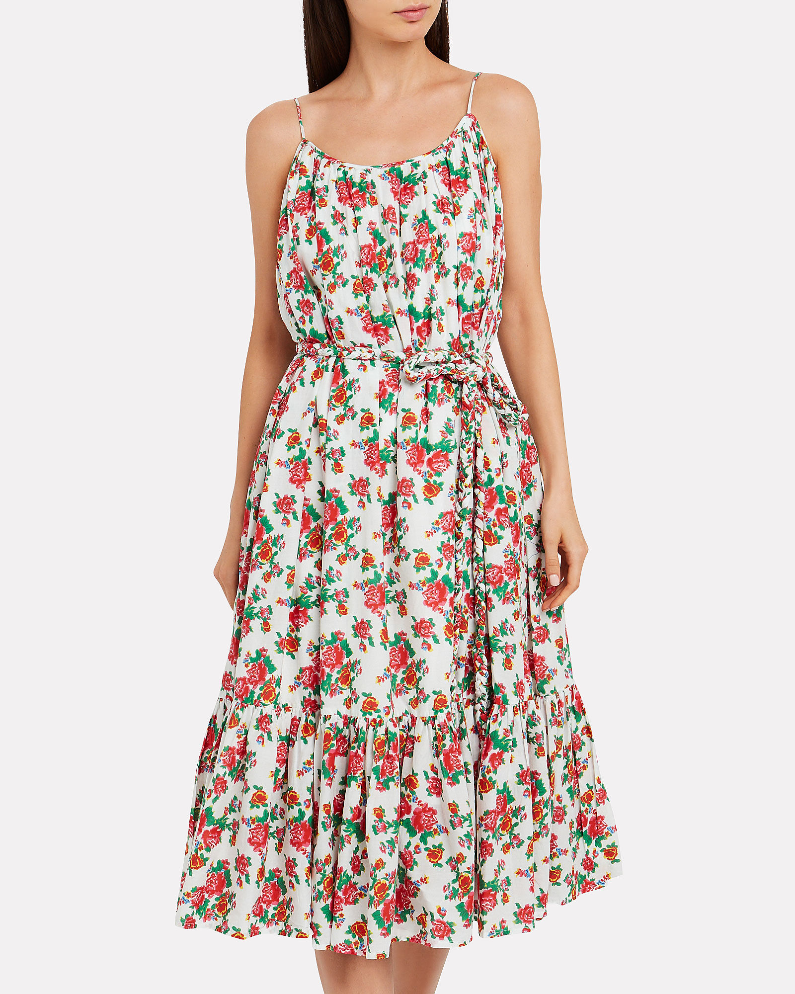 Lea Dazzle Floral Pleated Dress, MULTI, hi-res