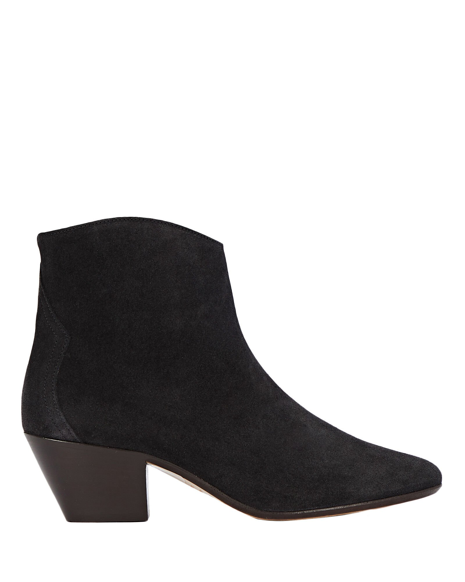 Dacken Suede Ankle Booties, BLACK, hi-res