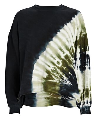 Neil Tie-Dye Sweatshirt, BLACK/GREEN, hi-res