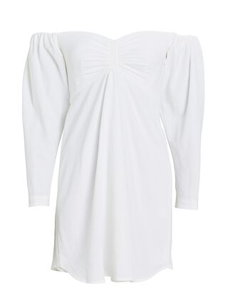 Kirby Off-The-Shoulder Mini Dress, WHITE, hi-res