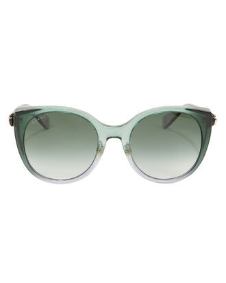 Gradient Cat Eye Sunglasses, GREEN, hi-res