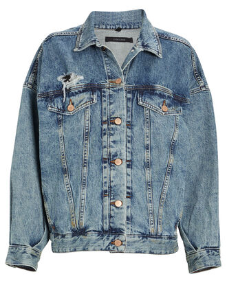 Drew Oversized Denim Jacket, DIMENSIONS, hi-res